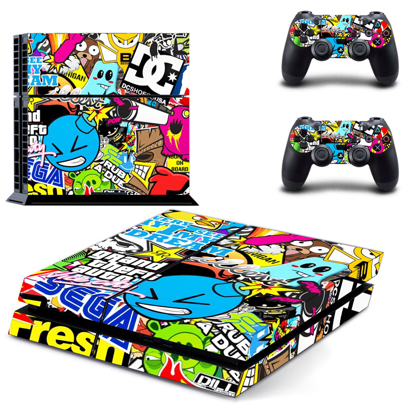 colorful-decals-vinly-ps4-skin-cover-sticker-cover-for-sony-ps4-font-b-playstation-b-font-4-and-2-controller-skins