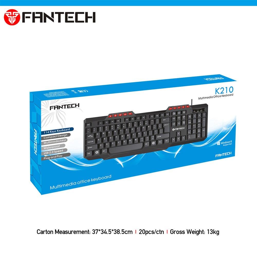 FANTECH K210 Multimedia Office Keyboad 4