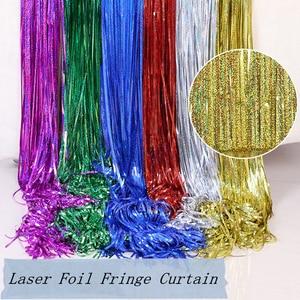Image 3 - Bachelorette Party Achtergrond Gordijnen Glitter Gold Klatergoud Fringe Folie Gordijn Verjaardag Bruiloft Decoratie Volwassen Anniversary Decor