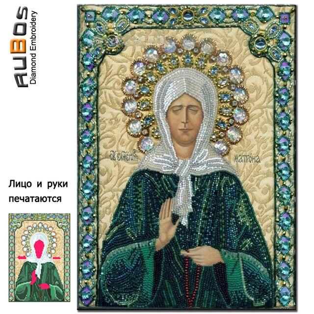 RUBOS Icona Saint Matrona Mosca FAI DA TE 5D Diamante Mosaico Diamante Pittura D