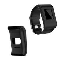 Caso da Tampa da pele Protector Quadro para Surge Fitbit Relógio Silicone Caso Capa Protetora para Surge Fitbit Inteligente Anti Arranhão