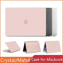 New 2019 Ultra Slim Crystal/matte Case For Apple Macbook Air 13 11 12 Pro 13 15 Retina 15 Cover Laptop Hard Transparent Case Bag