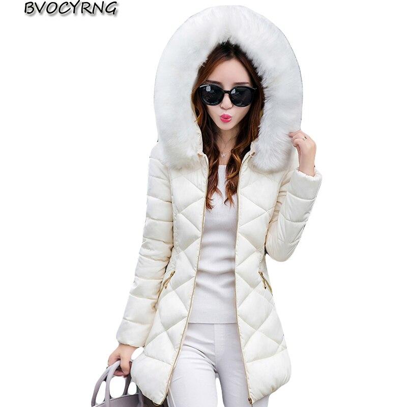 New Women Jacket Winter Ladies Casual Long Coats Plus size Woman Jackets Winter Hooded Cotton Parkas Warm Coat Outwear A0909