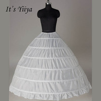 It S Yiiya White 6 Hoops Petticoat Ball Gown Wedding Accessories Bridal Crinolines Vestidos De Novia