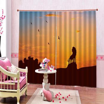 declining sun curtains Landscape Scenery Beauty Digital Photo Printing Blackout 3D Curtains for Living Room Bedding Room Hotel