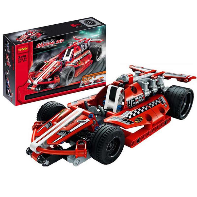Blok Bangunan Mainan Mobil Teknik Traktor Excavator Batu Bata Anak Mobil Model Hadiah Kombinasi Plug Mainan Kompatibel dengan Mainan