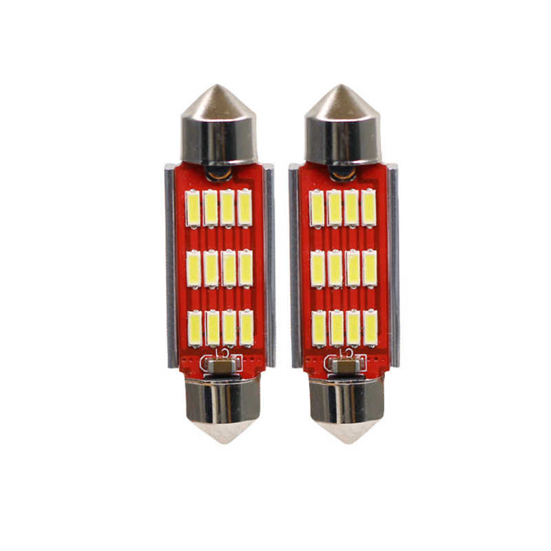 31mm 36mm 39mm 41mm C5W C10W CANBUS Error Free Auto Festoon SMD 4014 LED Car Interior Dome Lamp Reading Bulb White