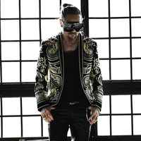 M 3XL Men blazer black embroidery coat Jacket blazer Male DJ Singer Slim high quality Stage Costume Plus Size