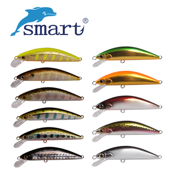Smart Minnow Bait 4.6g/55mm Fishing Lures China Sinking VMC Hook Isca Artificial Fishing Wobblers Leurre Souple Swimbait цена 2017