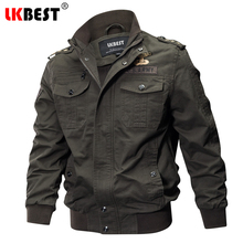 LKBEST 2018 Spring Men Bomber Jacket Air Force Pilot Jacket Men Badge Military Jacket Plus Size M-5XL Thin Cotton Coat FX12