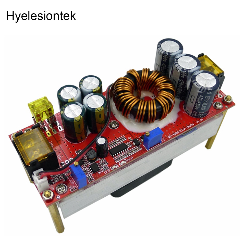 CC CV Boost Converter DC DC Step Up 1200W 22A DC DC Booster Adapter Power Supply Adjustable Module 10 60V to 13~97V DIY Electric
