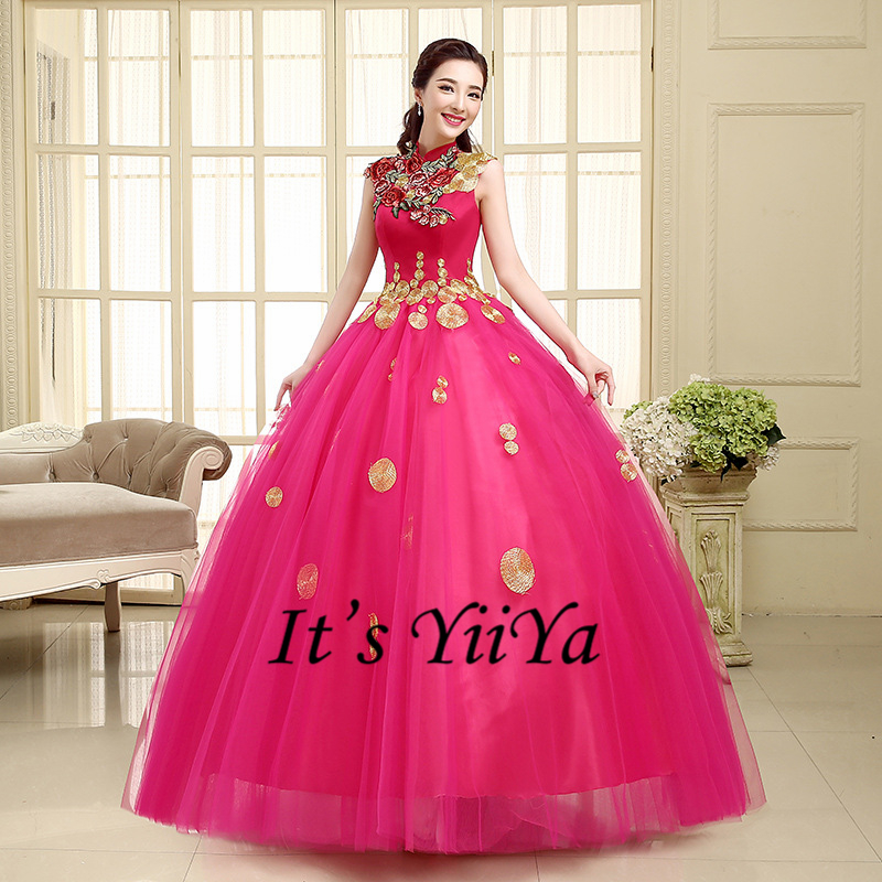 Buy free shipping new 2017 high neck hot for Pink wedding dresses 2017