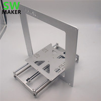 SWMAKER Update Prusa i3 frame kit aluminum alloy Anodized silver color