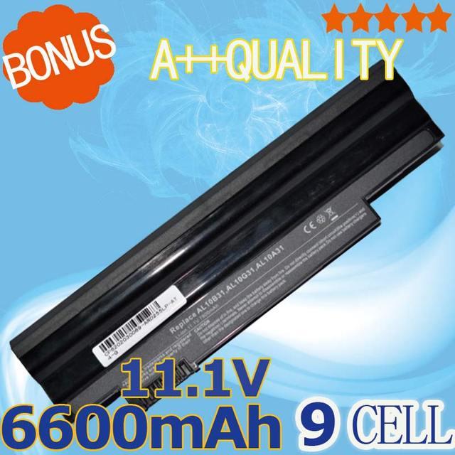 6600 mah batería para acer aspire one 522 d255 722 aod255 aod260 d260 d255e d257e d257 d270 e100 al10a31 al10b31 al10g31