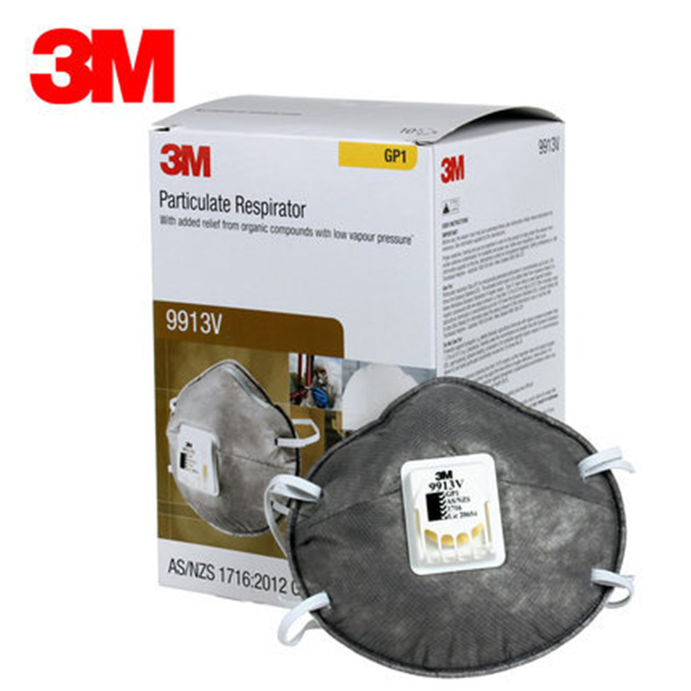 3M9913V Activated Carbon Protective Mask Anti-organic Vapor Particulates Dust Grinding Haze Dust Masks 50pcs high quality dust fog haze oversized breathing valve loop tape anti dust face surgical masks