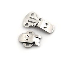 Silver Color DIY Craft Buckles For Shoes Accessories Blank Stainless Steel Flower Shoes Clips On Findings Wholesale 20PCS/lot