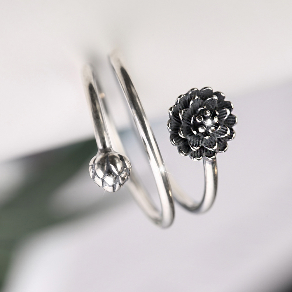 Women's Multilayer Style Lotus Ring 4