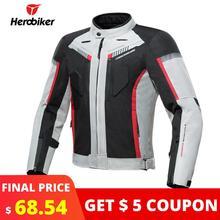 HEROBIKER демисезонный мотоциклетная мужская куртка водостойкий ветрозащитный Moto куртка для верховой езды гоночный мотоцикл костюмы защиты
