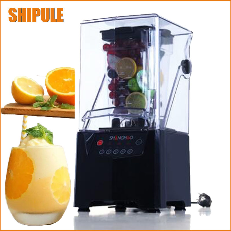 Commercial Blender Mixer Juicer High Power Food Processor Ice Smoothie Bar Fruit jiqi commercial ice smoothie blender food mixer juicer electric fruit juice extractor multifunctional soy milk machine 110v 220v