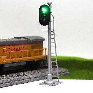 Image 5 - JTD873GYR 3 pcs דגם רכבת רכבת אותות 3 אורות בלוק אות דגם רמזור 1: 87 HO 12 V
