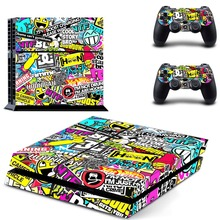 Graffiti Vinyl Cover Decal PS4 Skin Sticker for Sony PlayStation 4 Console & 2 Controller Skins for PS4 Accessories