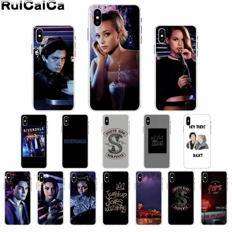 RuiCaiCa Archie Betty Jughead Jones Veronica Riverdale TV Soft Phone Cover for iPhone X XS MAX 6 6s 7 7plus 8 8Plus 5 5S SE XR