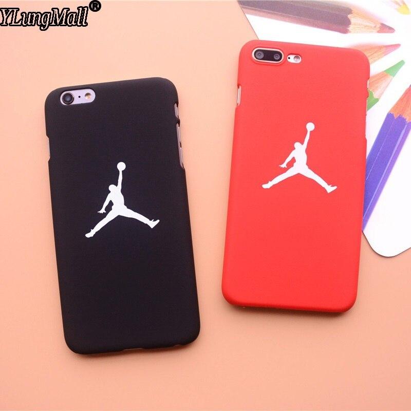 1edcae16a54e Smooth Feel Fundas Coque Case For iphone 7 8 Plus 6 6S Plus X SE 5 5s Xs  Max XR Case Basketball Hard PC Air Jordan Phone Cover