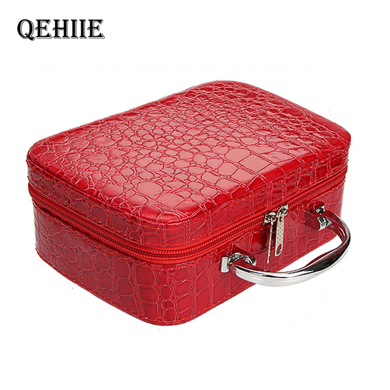 Cosmetic-Bag Makeup-Case Medicine Beauty-Box Stationery Travel-Organizer Woman Fashion