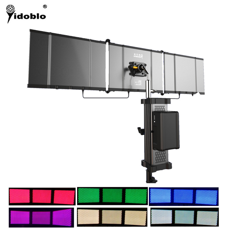 Yidoblo APP Control Slim Folding LED Panels Video Light RGB LED Ligthting Durable Aluminum Body Professional Foldable LED Lamp