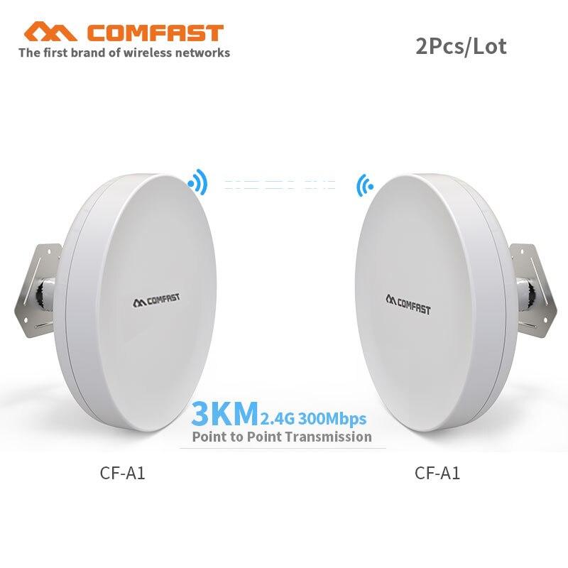2 pièces Comfast 1-3 KM longue portée Wifi extérieur CPE WDS pont 300 Mbps routeur sans fil Wifi répéteur antenne nano station