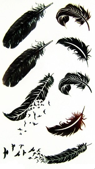 Temporary Tattoos Plumas Stencil Feather Pictures Wwwpicturesbosscom