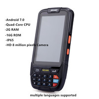 Android handheld pda scanner data terminal 4 inch Touch screen 4G GPS tracking 1D 2D Barcode scanner PDA