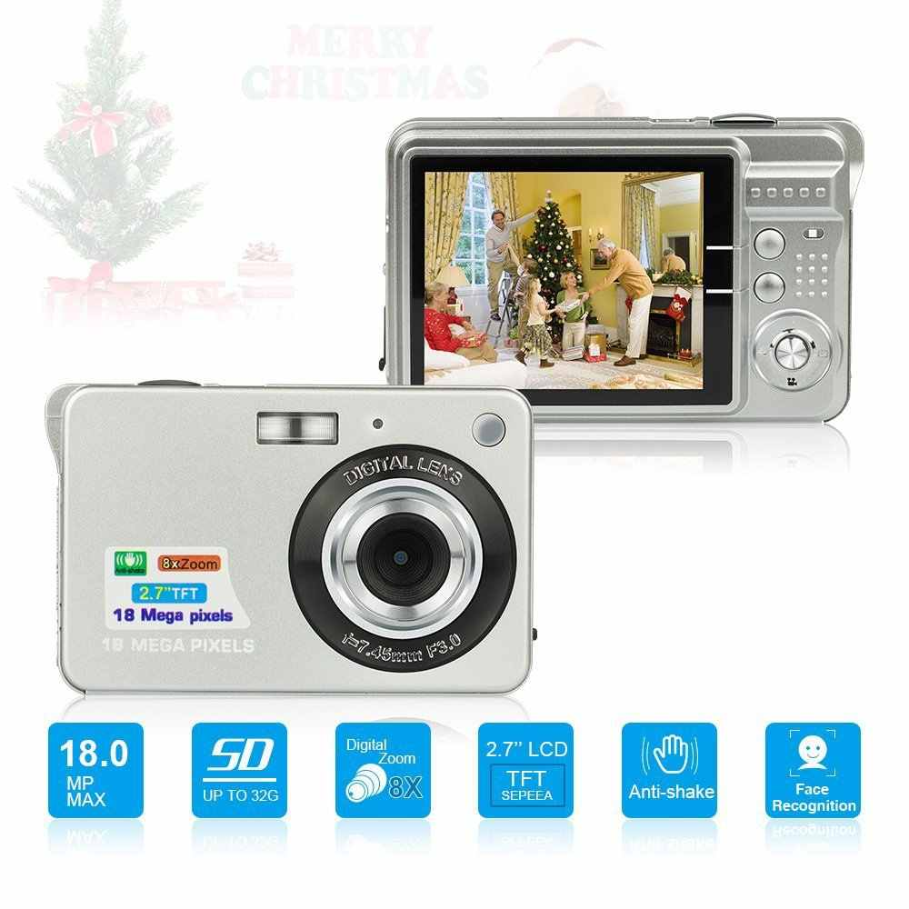 "Children Gift Portable Mini Camera 2.7"" 720P 18MP 8X Zoom TFT LCD HD Digital Camera Video Camcorder DV Anti-Shake Photo Cameras"