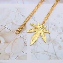 Weed Leaf Pendant Necklace