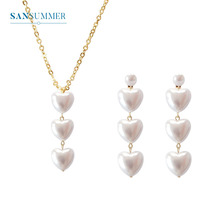 Exquisite Retro Pearl Necklace and Pendant Chain Pearl Heart Necklace Women Statement Collar Jewelry Femme Minimalist Jewely цены