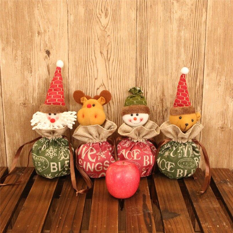 Santa Claus Snowman Elk Christmas Candy Packaging Apple ...