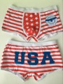 2017 New Sexy High quality 100% cotton cartoon men's Boxer / men underwear The American usa flag man panties character shorts