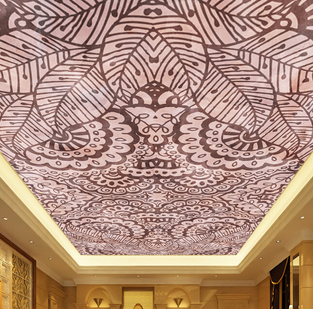 Custom 3D ceiling wall paper. The classical decorative pattern for the living room bedroom ceiling wall vinyl wallpaper