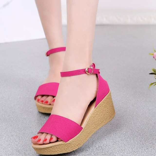 70bfa68b2 2015 shoes Summer Sexy Beautiful Trifle Women Sandals Bohemian Muffin Slope  with female drag Sandals flat free shipping