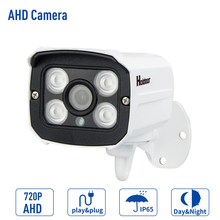 AHD Camera 720P CMOS Sensor IR-Cut Filter Indoor / Outdoor Waterproof HD 1MP Metal Security Camera