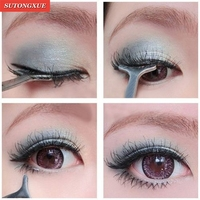 Multifunction False Eyelashes Eyebrow Auxiliary Tw ...