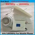 ЖК-Дисплей DCS 1800 МГц GSM 900 МГц Двухдиапазонный Мобильный Телефон Усилитель сигнала с Вход Периодические Антенна + Комнатная Антенна Полный набор