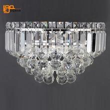 beautiful crystal wall lamp lustres modern wall lighting chrome wall lights for home