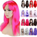 Shiny Long Curly Full Hair Wig 48CM 50CM Multicolor Cosplay Party Synthetic Wigs Real Cheap 100% New Style