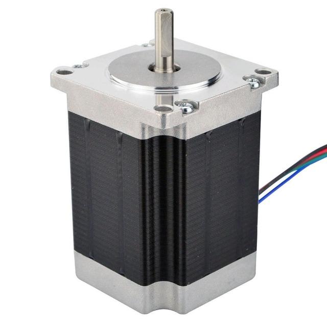 Nema 23 Stepper Motor 76mm 1.9Nm(269oz.in) 2.8A 4-lead 6.35mm Shaft Nema23 Step Motor DIY CNC Mill Lathe Router