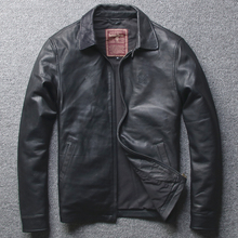 2019 Men's Sheepskin Leather Jacket Designer Vintage Genuine Leather Bomber