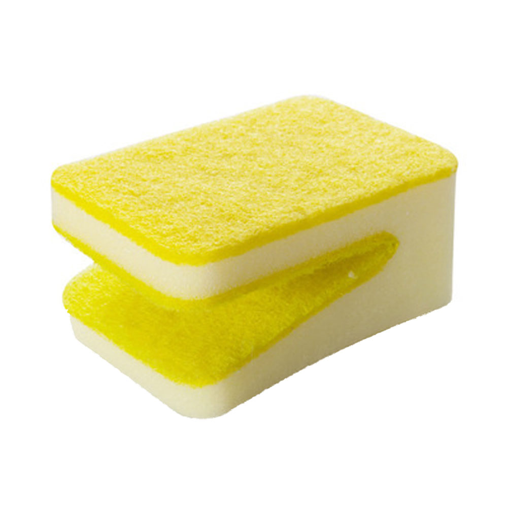 Candy Color U Shaped Sponge Brush Scrubbing Pots Dishwashing Thickened Clean Decontamination Magic Rub Household Cleaning Tools