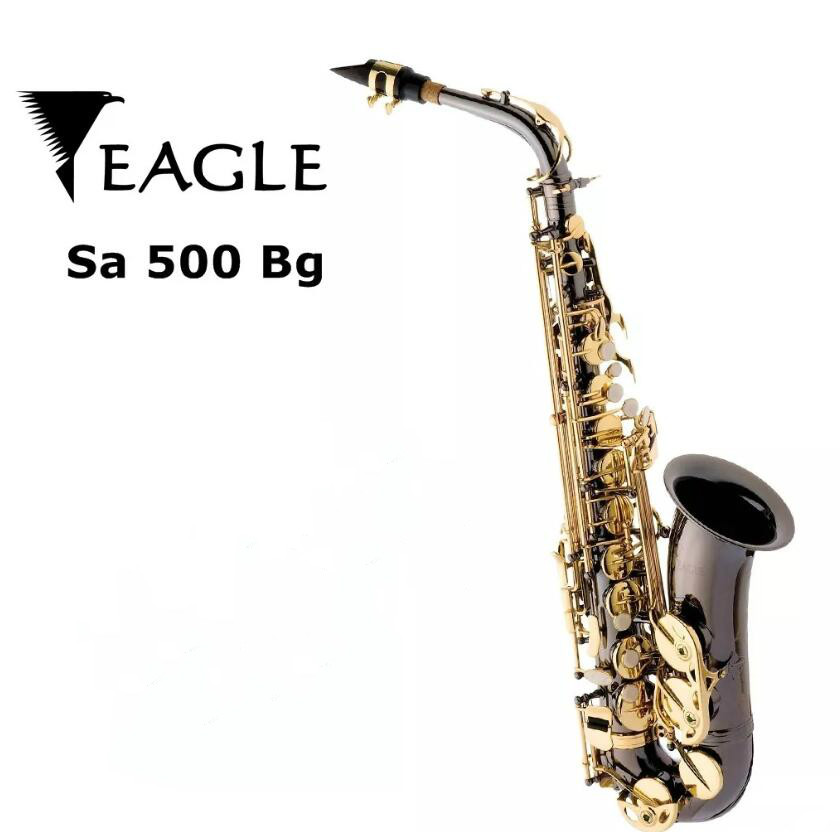 Eagle Sa500 Saxophone Alto in E flat Saxofone Black Nickel Gold Brass Instruments with C ...