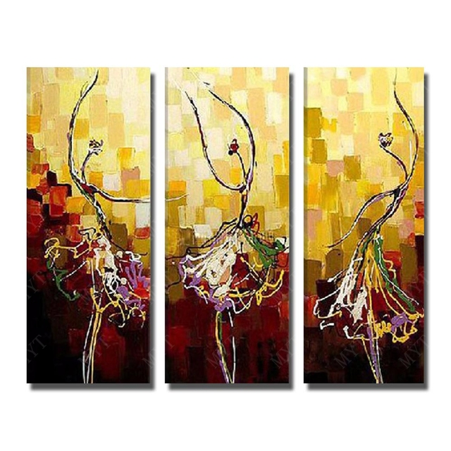 Ballet Dancing Oil Painting Abstract Portrait Oil Painting Nude Art Hand Painted -9105