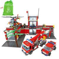New Original Kazi City Fire Station 774pcs Set Building Blocks Educational Bricks Toys Compatible With Leg0